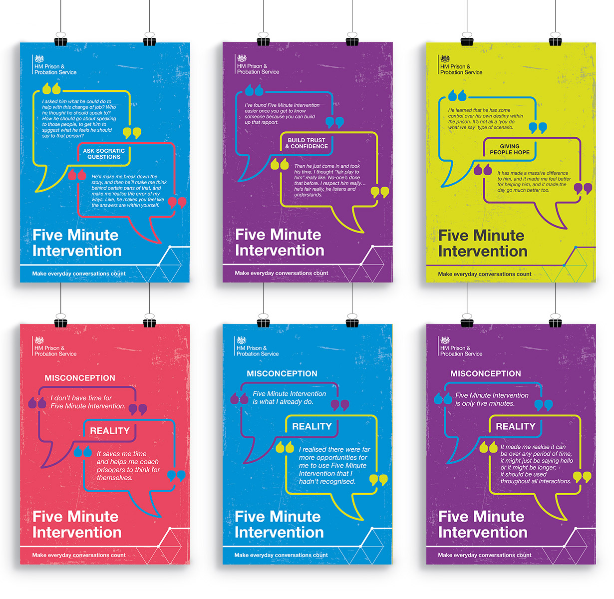 HMPPS - Five Minute Intervention posters