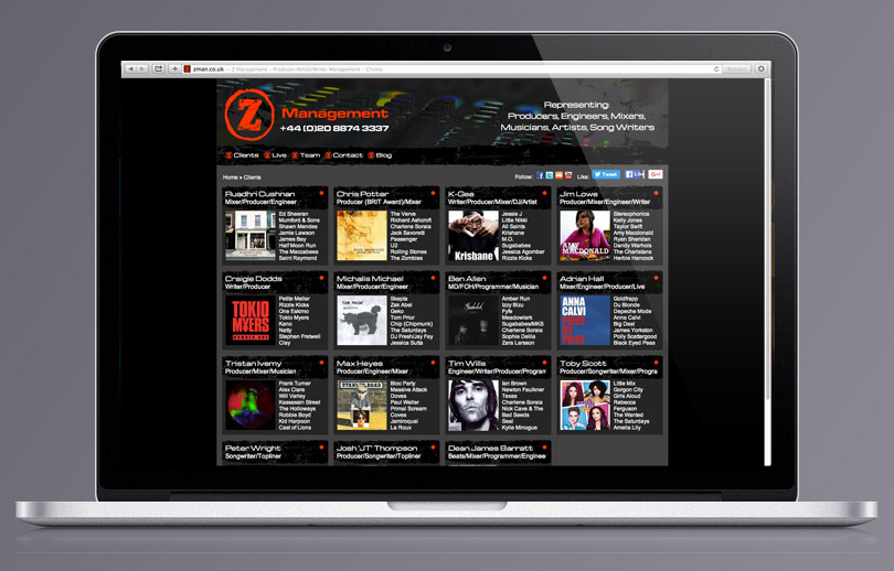 Z Management homepage