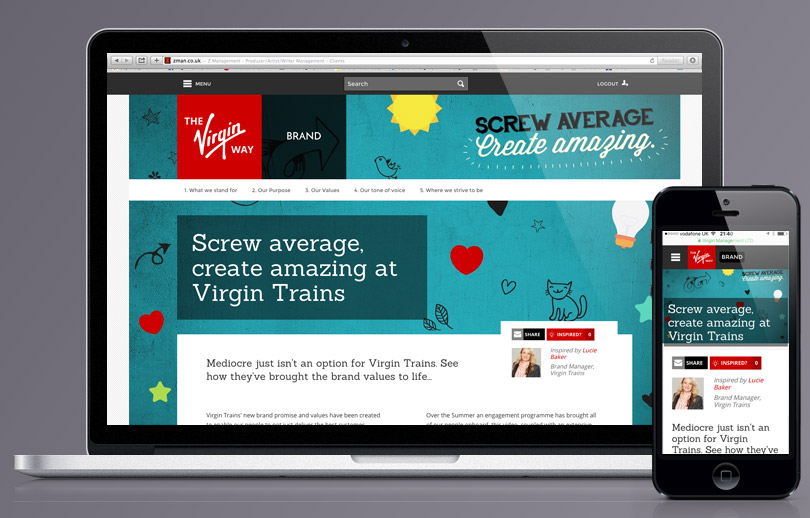 The Virgin Way internal branding article